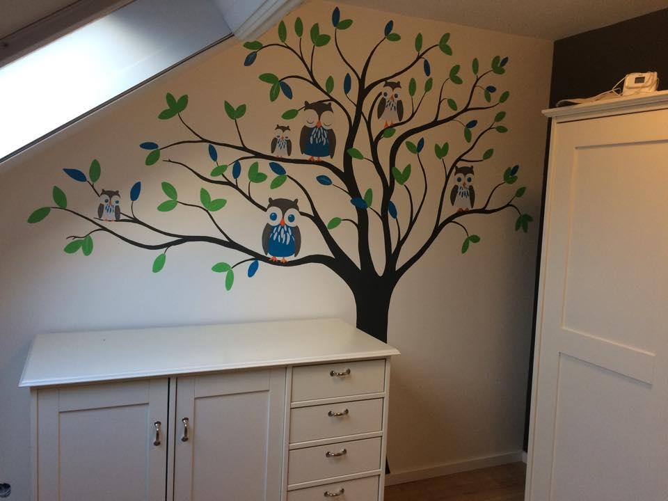 Boom Voor Babykamer.Muurschilderingen In Babykamers Kunst Voor Schatjes