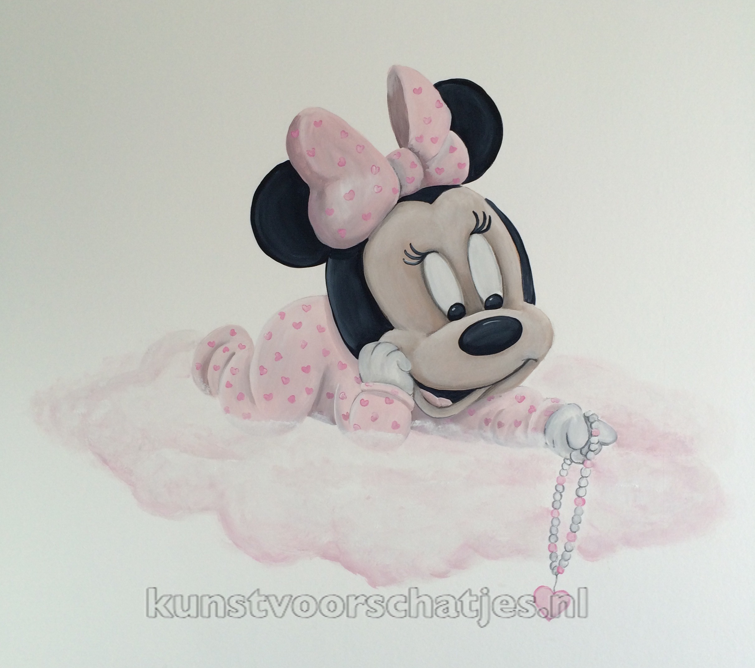 Minnie Mouse op wolk