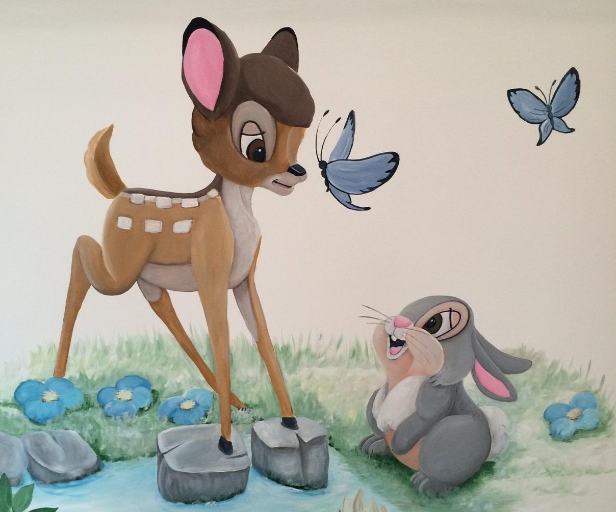 Bambi met blauw