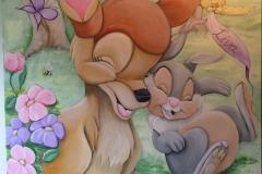 Schilderij bambi met naam