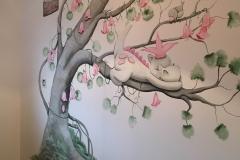 Dirk het draakje boom roze