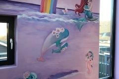 Onderwater-zeemeermin-met-regenboog-en-schildpadden