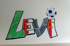 Graffiti naam voetbal