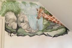 Jungle doorkijk met waterval