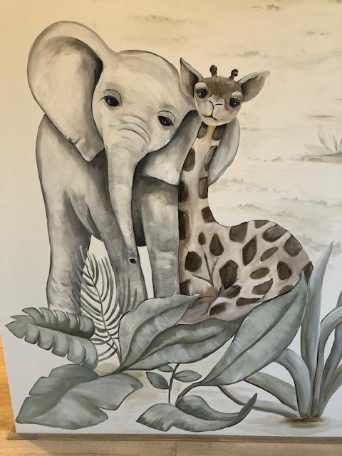 Jungle-baby-olifant-en-giraf