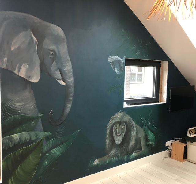 Jungle-donkerblauwe-muur