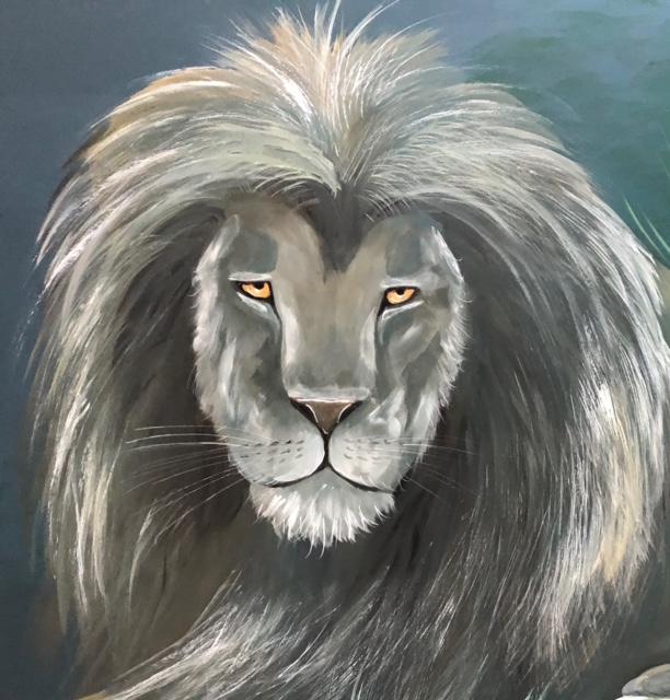 Jungle-leeuw-closeup