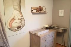 Olifantje paneel op mama slurf in kamer