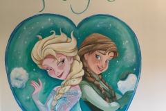 Frozen hart met naam