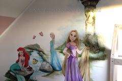 Rapunzel kasteeel met Elsa en Ariel