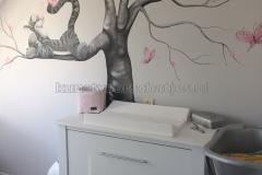 Teigetje met boom zwart wit